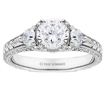 Round Cut Diamond Vintage Style Engagement Ring