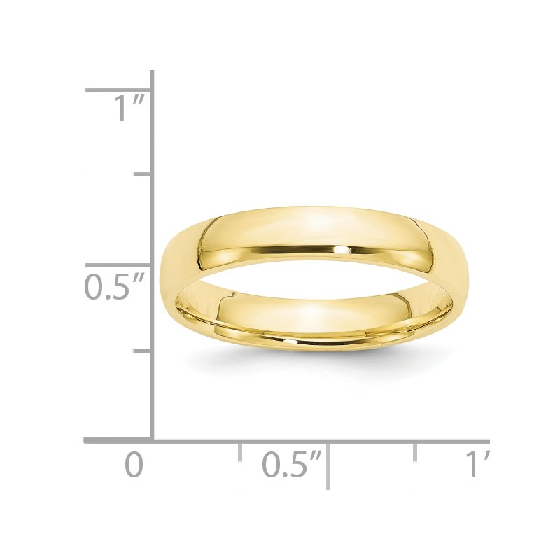 Quality Gold 10KY 4mm LTW Comfort Fit Band Size 10