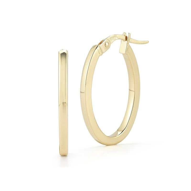 Roberto Coin 18Kt Gold Petite Oval Hoop Earrings