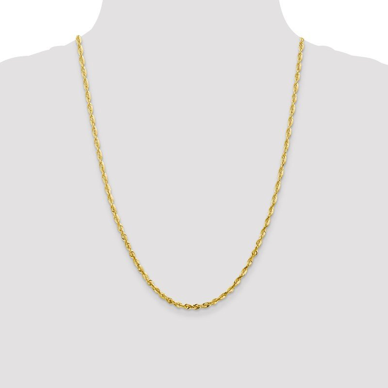 Leslie's Leslie's 10K 3.5mm Diamond-Cut Lightweight Rope Chain