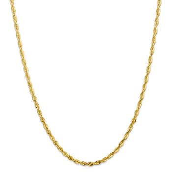 Leslie's 10K 3.5mm Diamond Cut Lightweight Rope Chain