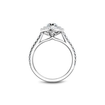 Marquise Shaped Double Halo Engagement Ring