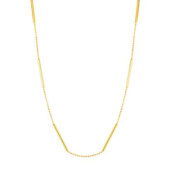 14K Gold Bar Station Choker