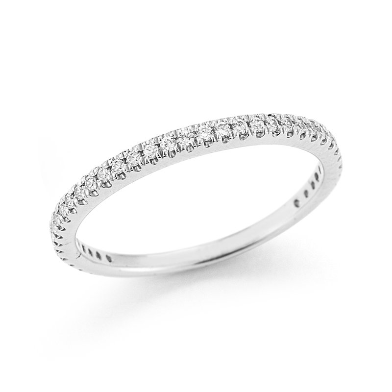I. Reiss 14K-W STACKABLE GALLERY RING, 0.25CT