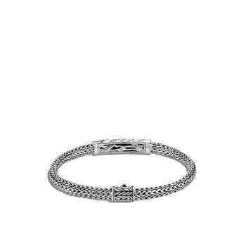 Lahar 5MM Station Bracelet in Silver with Diamonds