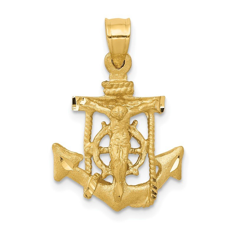 Quality Gold 14k Mariners Cross Pendant