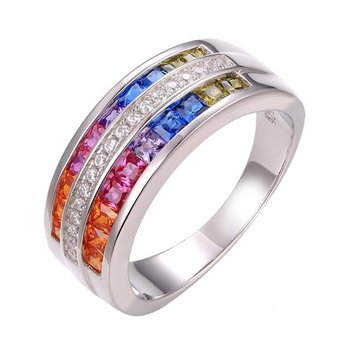Rainbow Wide-Band Ring