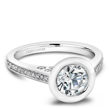 Noam Carver Modern Engagement Ring B016-02A