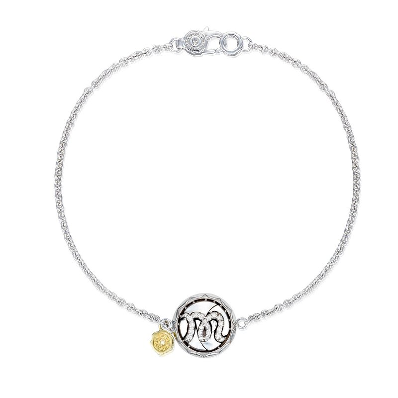 Tacori Fashion Pavé Monogram Chain Bracelet