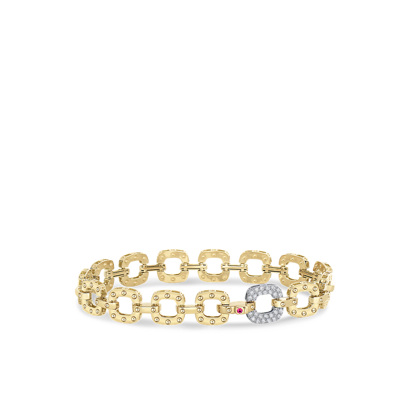 Roberto Coin Braclet With 1 Petite Diamond Link