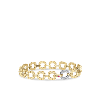 18KT GOLD BRACELET WITH DIAMOND LINK