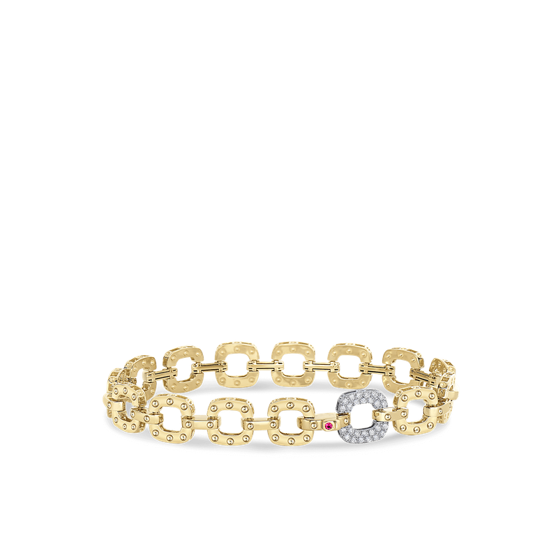 Roberto Coin 18Kt Gold Bracelet With Diamond Link