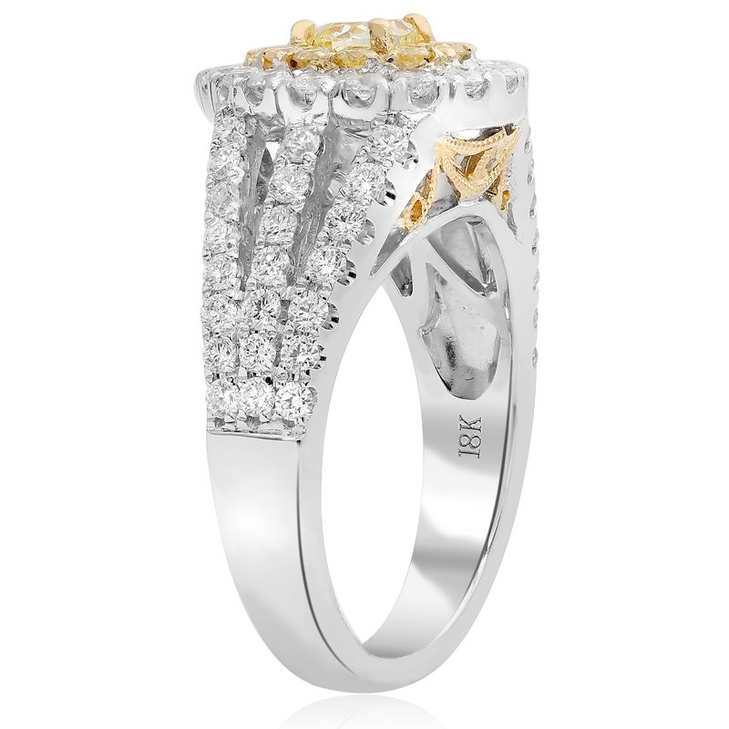 Roman & Jules Split Shank Yellow Diamond Ring
