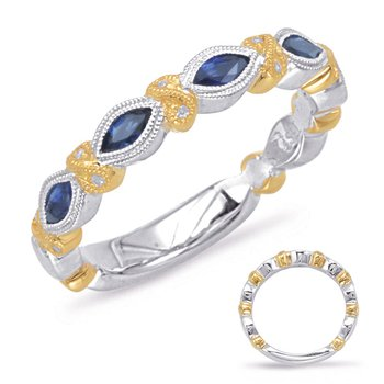 Yellow & White Gold Sapphire & Diamond