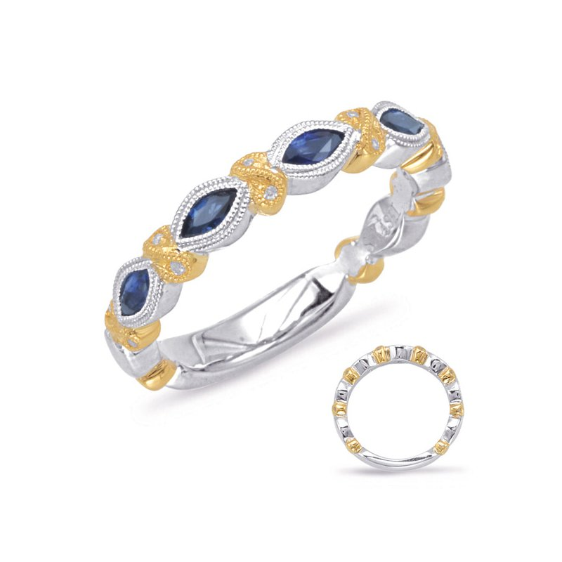 S. Kashi  & Sons Yellow & White Gold Sapphire & Diamond