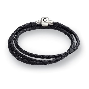 Ebony Braided Leather Wrap Bracelet