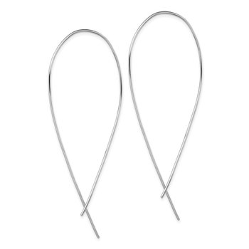 Sterling Silver Rhodium-plated Polished Threader Earrings