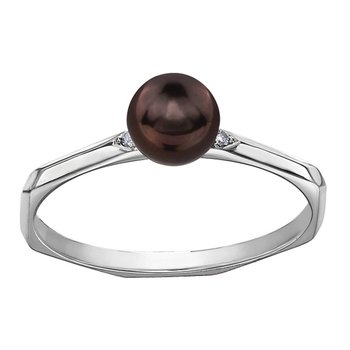 Black Pearl Ladies Ring