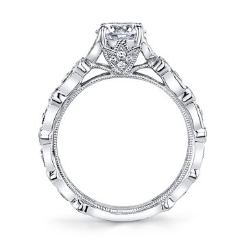 MARS 26010 Diamond Engagement Ring, 0.38 Ctw.