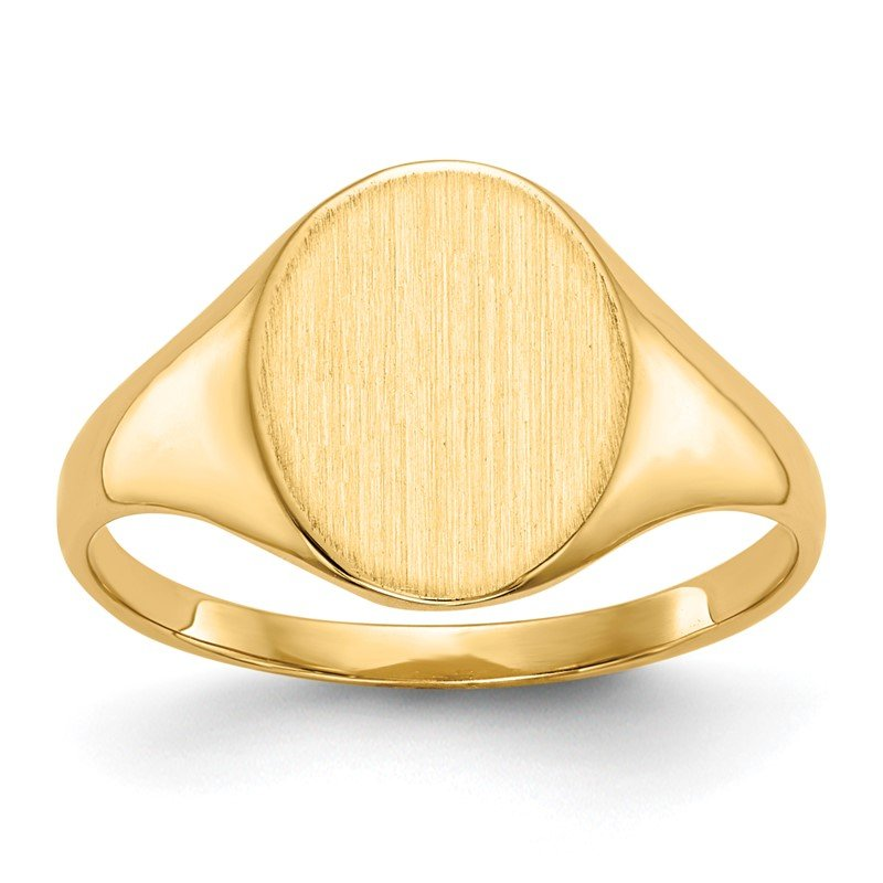 Quality Gold 14k 11.0x9.5mm Closed Back Signet Ring