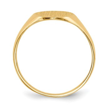 14k 11.0x9.5mm Closed Back Signet Ring