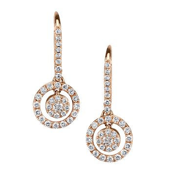 Diamond Drop Earrings 0.55 ctw