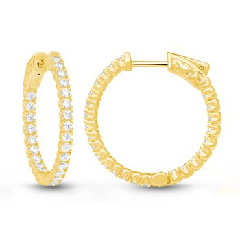 MARINA FOUR PRONG HOOPS