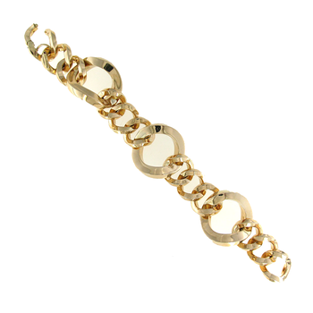 18Kt Gold Twisted Link Bracelet