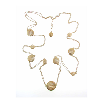 18Kt Gold Silk Station Necklace
