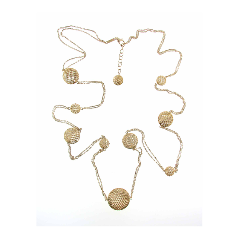 Roberto Coin 18Kt Gold Silk Station Necklace