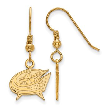 Gold-Plated Sterling Silver Columbus Blue Jackets NHL Earrings