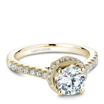 Noam Carver Modern Engagement Ring B082-01YA