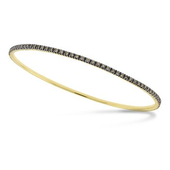 Champagne Diamond Eternity Slip-On Bangle in 14k Yellow Gold with 105 Diamonds weighing 1.00ct tw.