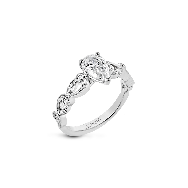 Simon G TR473-PR WEDDING SET