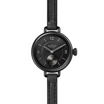 The Birdy 34mm Black Leather Strap Watch