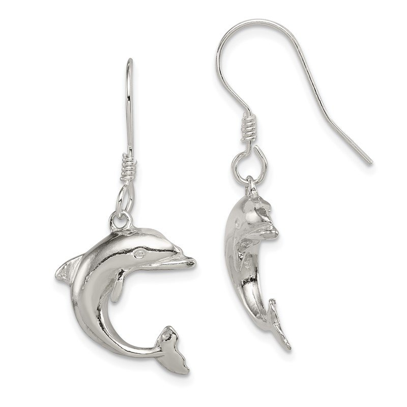Arizona Diamond Center Collection Sterling Silver Dolphin Earrings