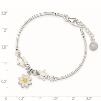 SS Children's Enamel Swarovski Elements w/.75 EXT Bracelet