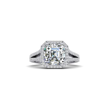 OMG Series Split Shank Diamond Engagement Ring
