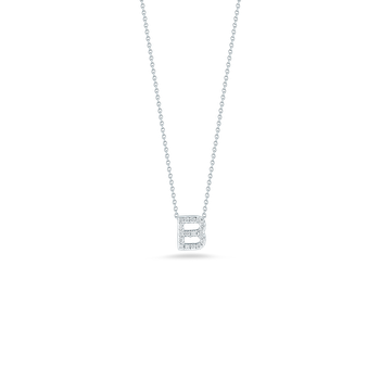 18KT GOLD LOVE LETTER B PENDANT WITH DIAMONDS