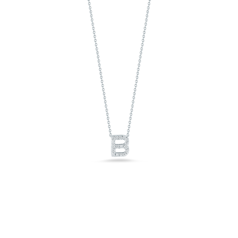 Roberto Coin 18Kt Gold Love Letter B Pendant With Diamonds