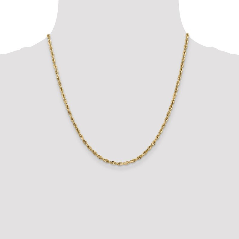 Quality Gold 14ky 2.8mm Semi-Solid Rope Chain