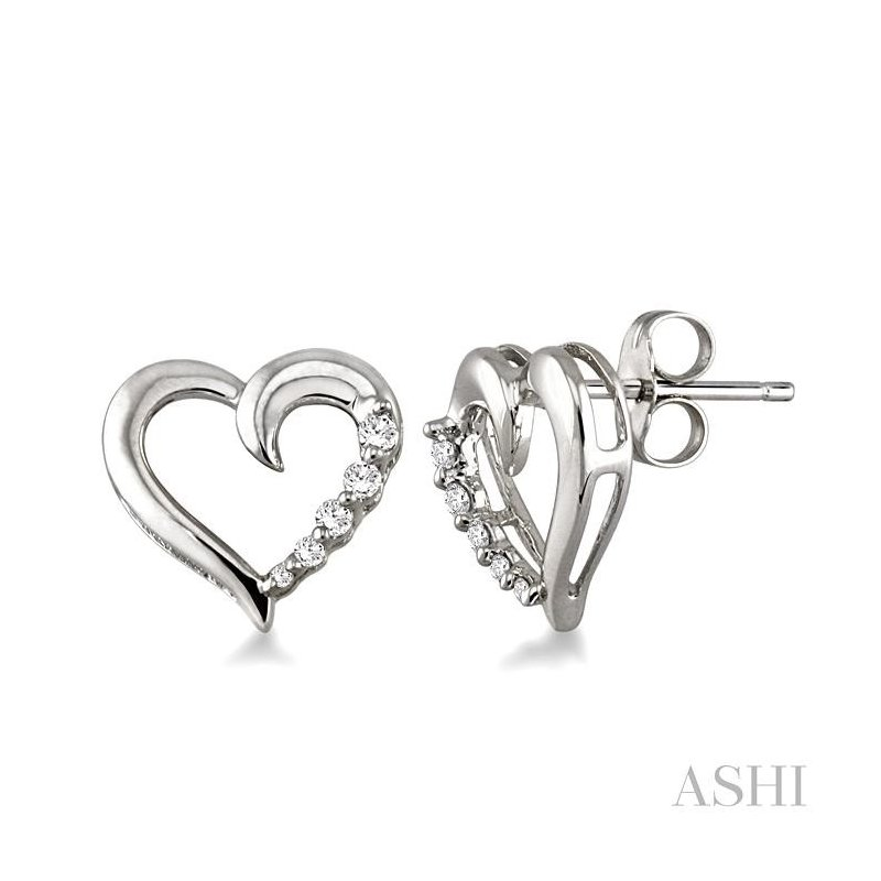 Gemstone Collection heart shape journey diamond earrings