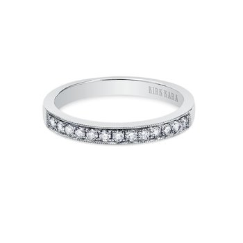 Milgrain Refined Diamond Wedding Band