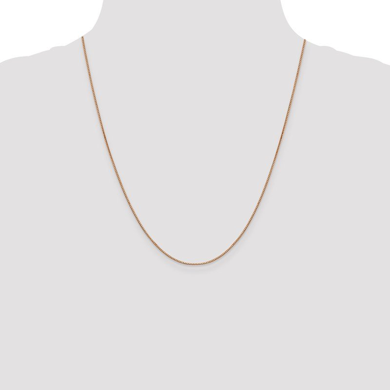 Leslie's Leslie's 14K Rose Gold .8mm Box with Lobster Clasp Chain