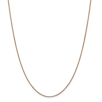 Leslie's 14K Rose Gold .8mm Box with Lobster Clasp Chain
