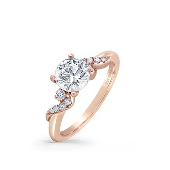 Milgrain Round Diamond Engagement Ring