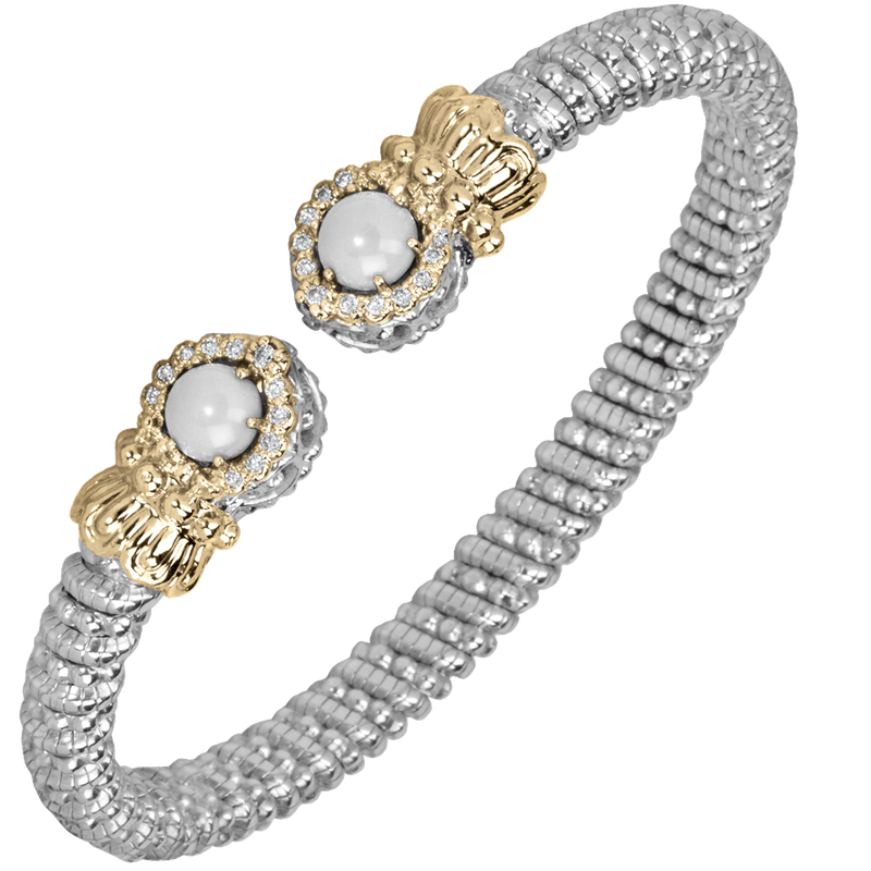 Alwand Vahan Halo Pearl and diamond bracelet