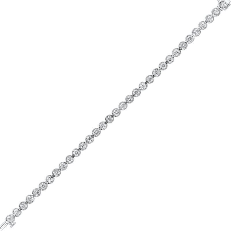 Gems One Tru Reflections Bezel Set Diamond Bracelet in 14K White Gold (3 ct. tw.)