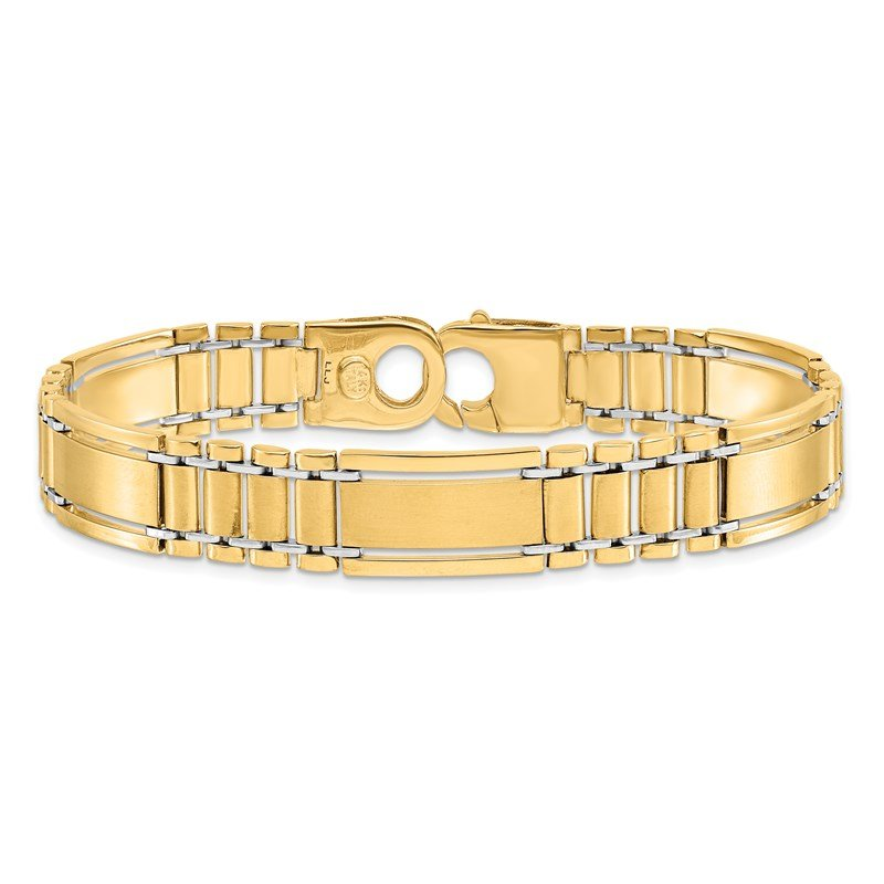 Leslie's Leslie's 14K Two-Tone Polished and Satin Men's Bracelet