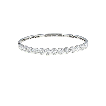 18Kt Gold Diamond Bangle